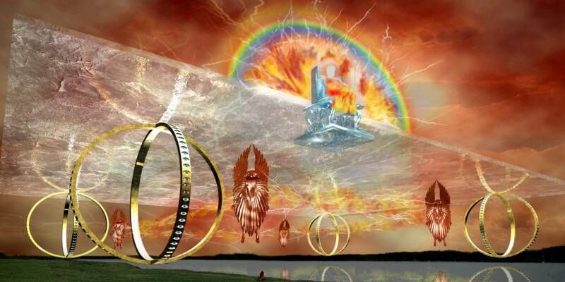 Artist's rendition of Ezekiel's vision