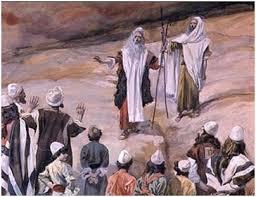 Korah  against Moses an Aaron