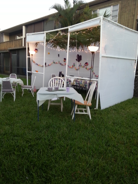 The sukkah ready for more guests!