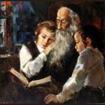 jewish man with grandsons