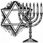 Star of David and Menorah