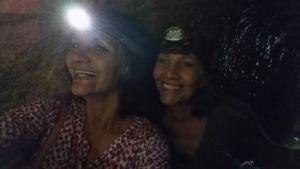 Ro and Maria in Hezekiah's Tunnel