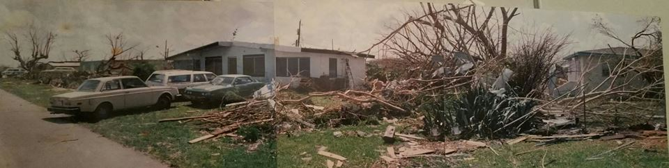 My home after hurricane Andrew