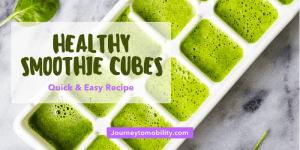 Healthy green smoothie cubes recipe blog banner
