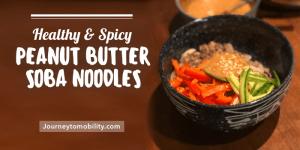 peanut butter soba noodles