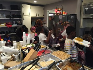 My kitchen is an EXPLOSION after 40-50 people eat in it each Sunday night. Melanie diligently and humbly cleans it all up while I'm running the kids program. She never complains, and never demands attention for it.