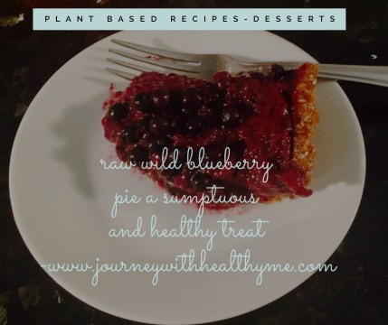 Raw Wild Blueberry Pie