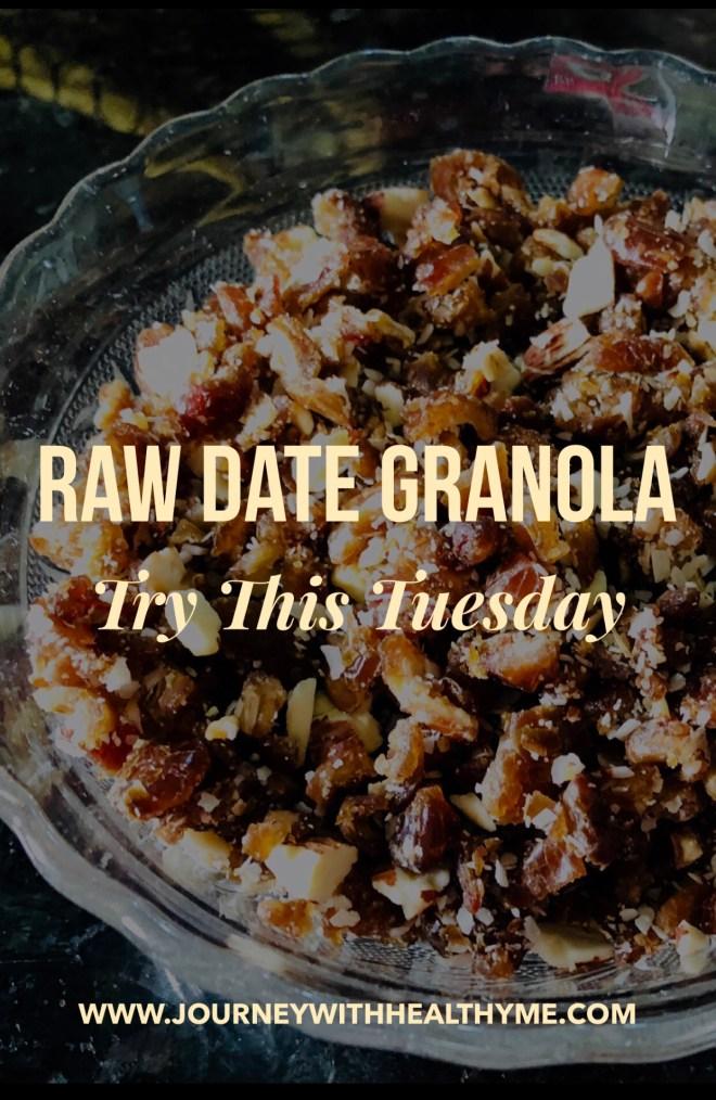 Raw Date Granola
