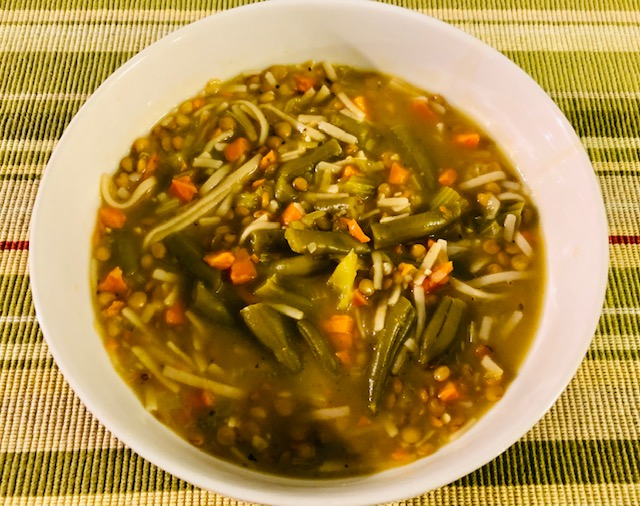 Easy Vegetable Noodle Soup Ready to Eat