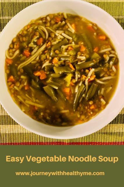 Easy Vegetable Noodle Soup Title Meme