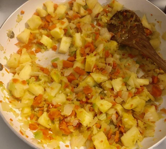 Vegan Pineapple Fried Rice Saute