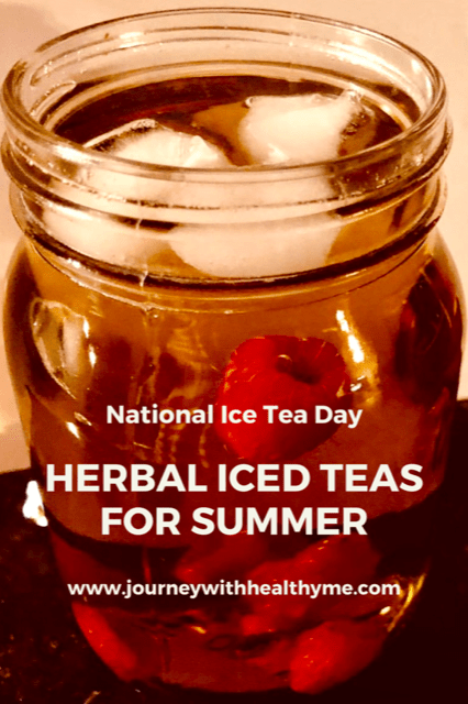 Herbal Iced Teas for Summer title meme 2