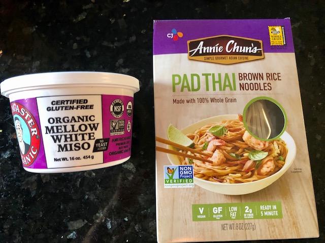 Vegan Ramen Noodles miso and noodles