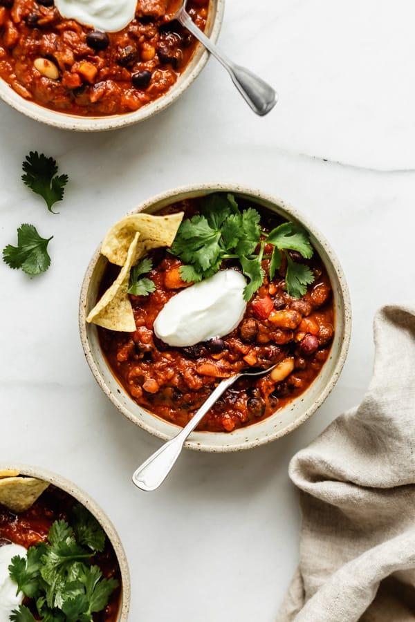 Best Vegan Chili Recipes instant pot