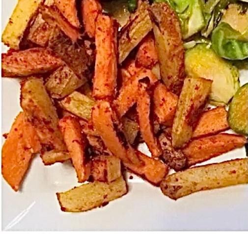 Heart Healthy Snack sweet potato fries
