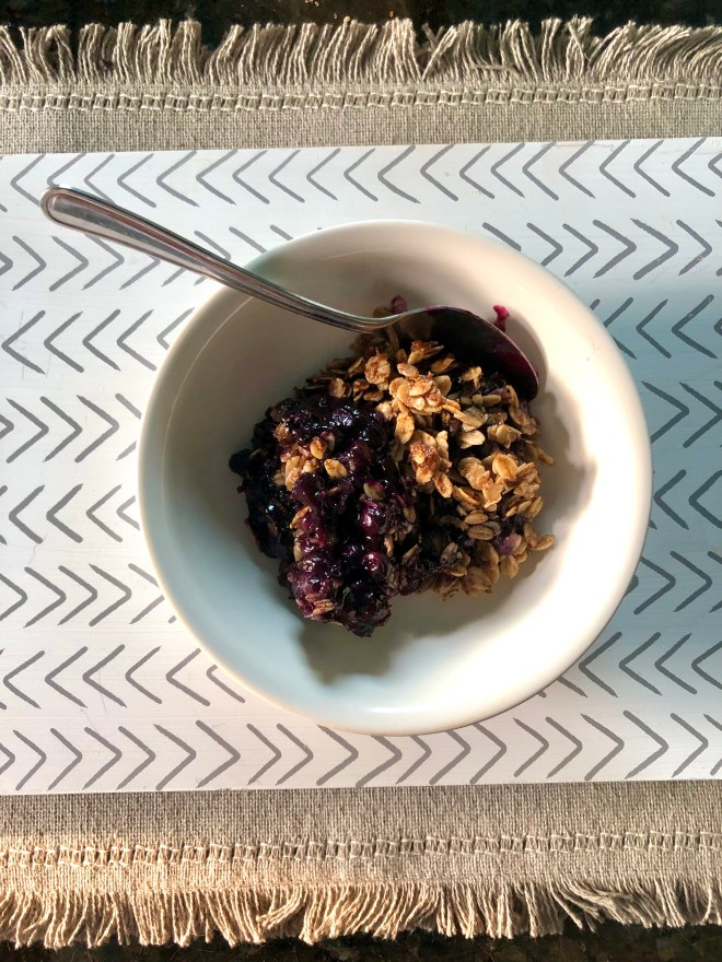 Ready to eat blueberry crumble