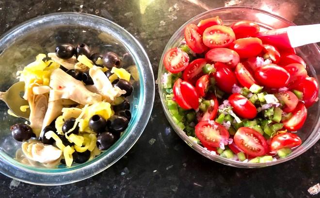Gluten Free Mediterranean Pasta Salad ingredients