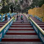 Up 272 steps to reach the Batu Caves, Malaysia