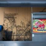 Street art mixed with street food, Penang