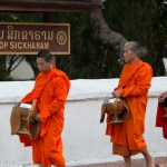 Tak Bat, monks collecting alms in Luang Prabang