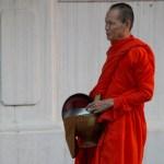 Tak Bat, monks collecting alms in Luang Prabang
