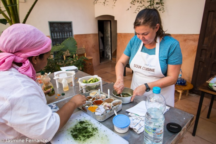 Jasmine Fernance learning to cook with Souk Cuisine
