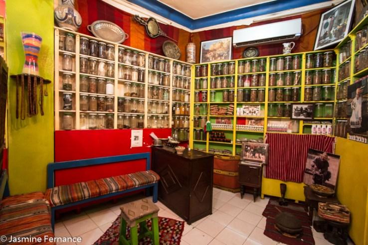Herb store in Marrakech medina