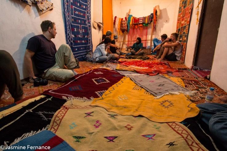 Moroccan carpet store