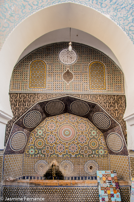 One of Fes' amazing tiled fountains