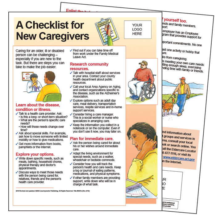 Caregiving Basics Set Of 6 E Pamphlets Journeyworks