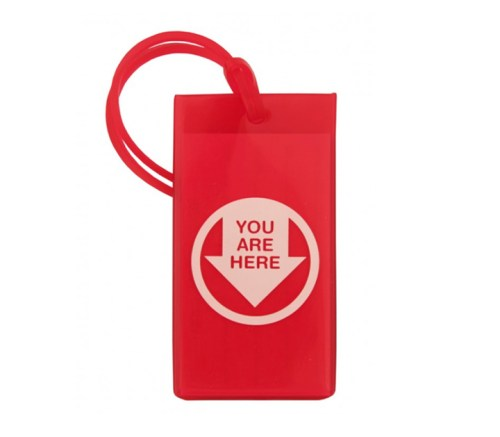 you are here luggage tag