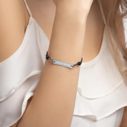 lat long bracelet