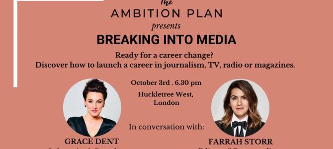 15% Off Ambition Plan Events With Grace Dent & Farrah Storr
