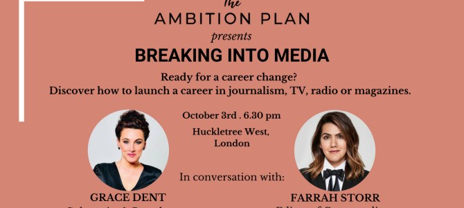 15% Off Ambition Plan Events With Grace Dent & Farrah Storr