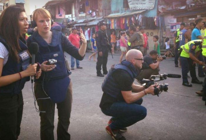 Megha Mohan filming.