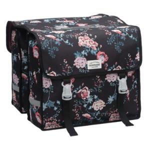 new-looxs-fiori-dubbele-fietstas-met-bloemen-ella-zwart