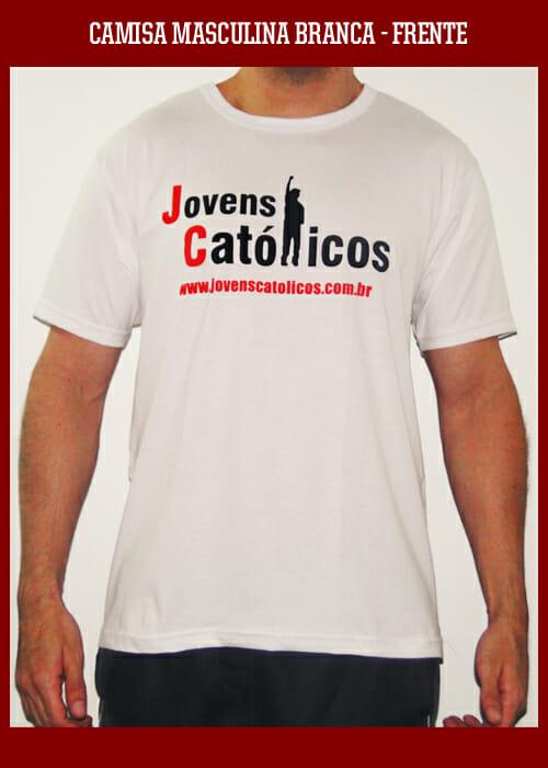 Camisa Jovens Católicos - Branca Masculina
