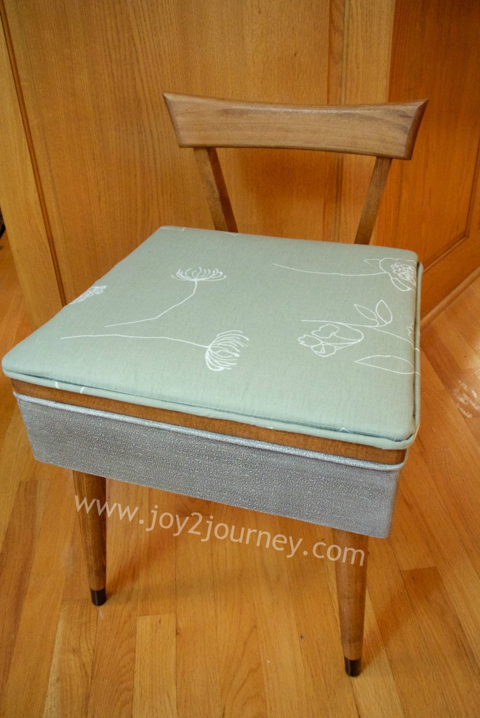 Sewing machine chair refreshed  Joy 2 Journey