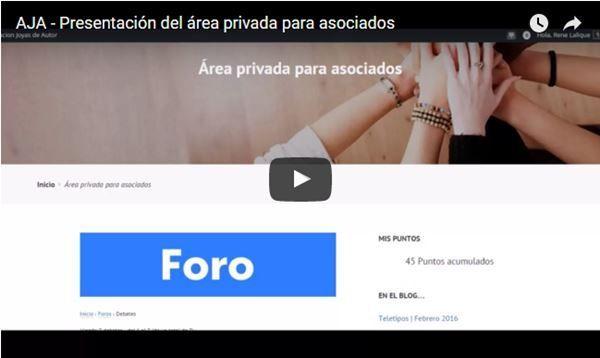 AJA - Video presentación área privada