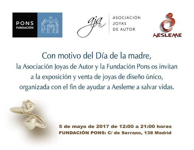 Exposición en beneficio de AESLEME - AJA - Fundación Pons
