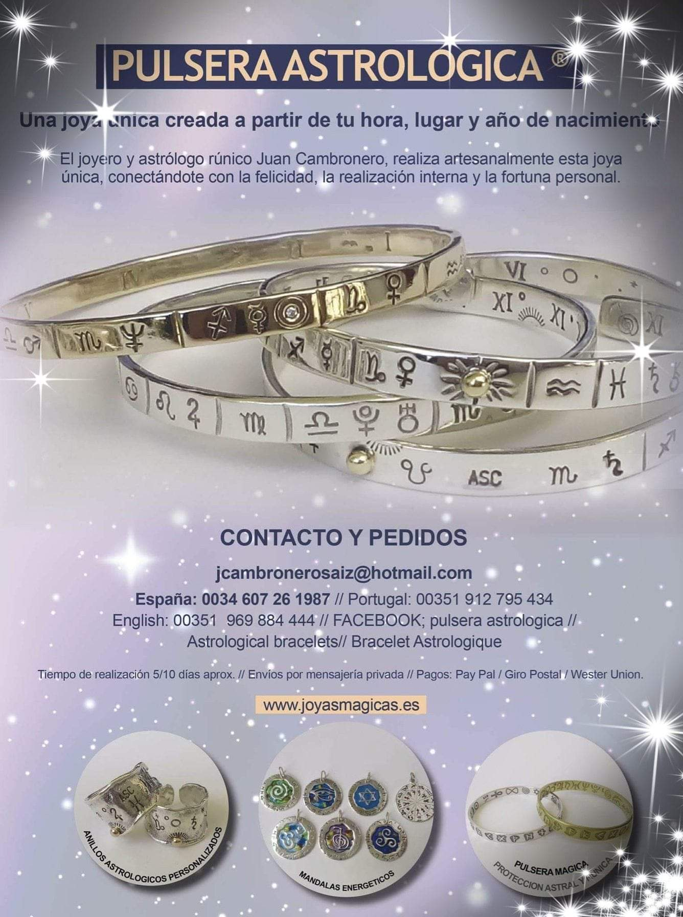 Pulsera Astrológica de Juan Cambronero