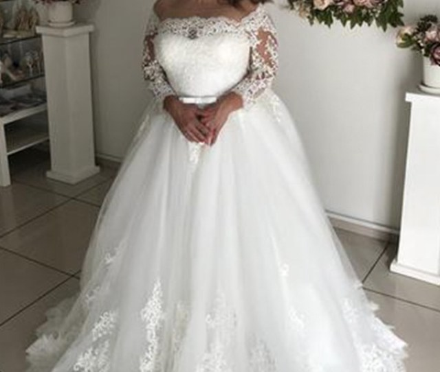 25b1e07d5afb ... Wedding Dresses M5705 China Prom Dresses Evening Dress. Pretty Looks  Princess Style Off The Shoulder Long Sleeves Sweep Brush Train Lace