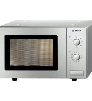 Bosch Brushed steel Compact microwave oven HMT72M450B