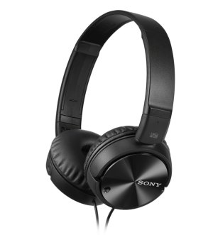 Sony MDR-ZX110NA Smartphone-compatible Noise Cancelling Headphone Black
