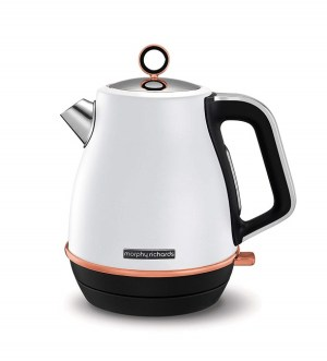 Morphy Richards Evoke Rose Gold and White Special Edition Jug Kettle 104415