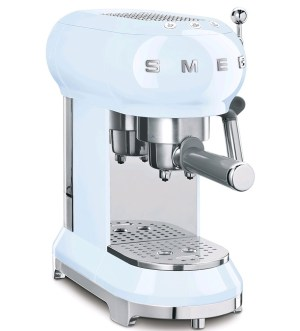 Smeg 50's Retro style Espresso Coffee Machine Pastel Blue EFCF01PBUK
