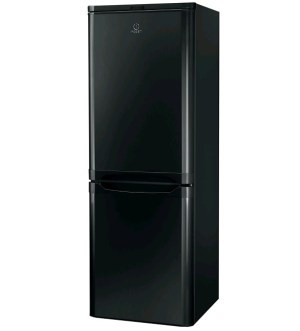 Indesit 55cm Black 1.5m Tall Fridge Freezer IBD5515B