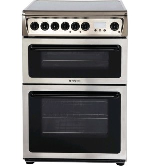 Hotpoint Electric Double Cooker Inox HAE60XS