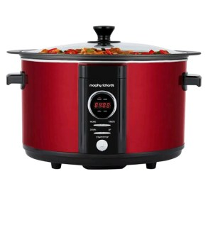 Morphy Richards Red Sear and Stew Digital Slow Cooker 6.5L 461012