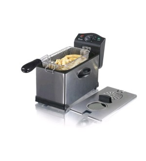 Swan 3 Litre Stainless Steel Deep Fat Fryer with Viewing Window SD6040N